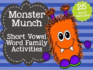 http://www.teacherspayteachers.com/Product/Monster-Munch-Word-Family-Bundle-Short-Vowel-1054516