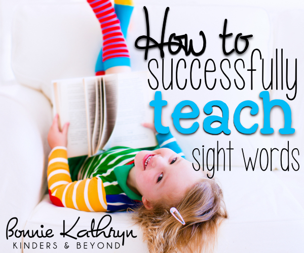 How to Successfully Teach Sight Words