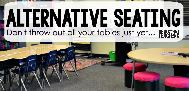 Alternative Seating: Don't throw out all your tables just yet…