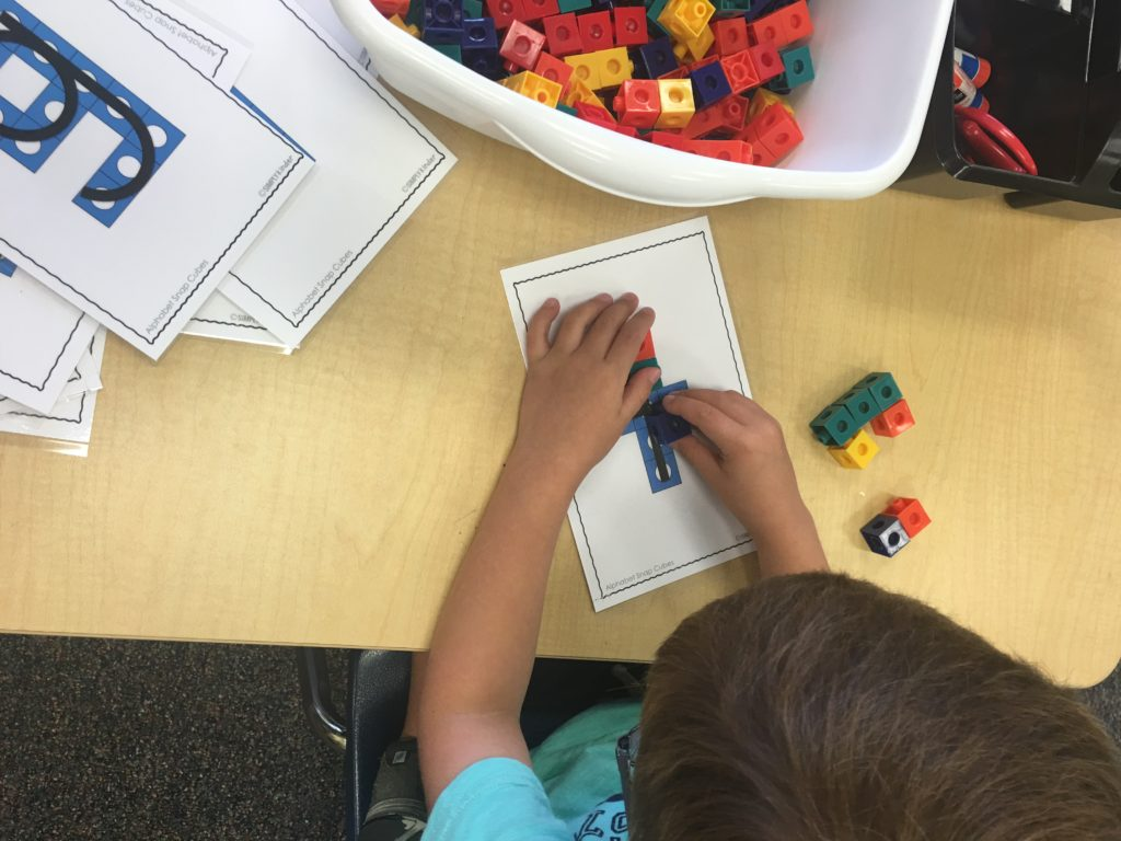 Simply Kinder Snap Cube letters